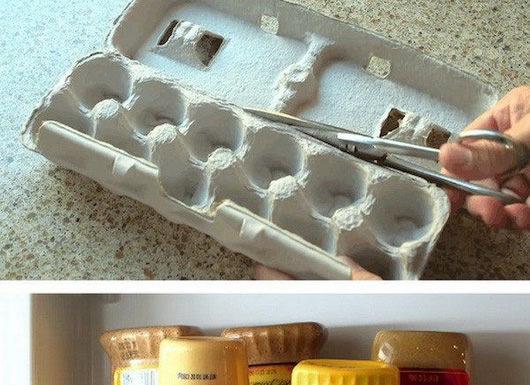 carton de huevo para no manchar tu refrigerador