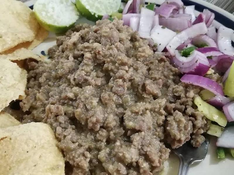 Carne Molida de Res en Salsa